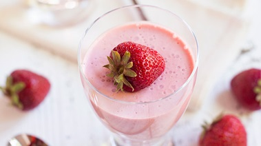 Strawberry Orange Panna Cotta