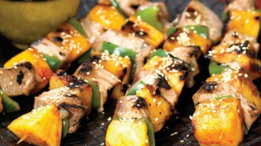 Swordfish and Pineapple Kebabs