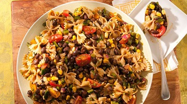 Tex-Mex Bean and Whole Wheat Pasta Salad