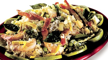 Thai-style Fried Rice with Prawns and Basil