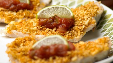 Tortilla-crusted Snapper Fillets
