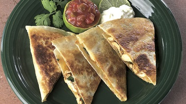 Turkey and Cheddar Quesadillas