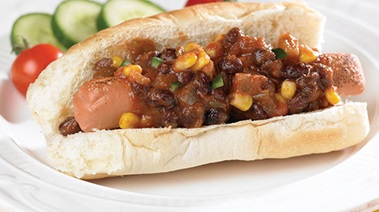 Vegetarian Chili Dogs