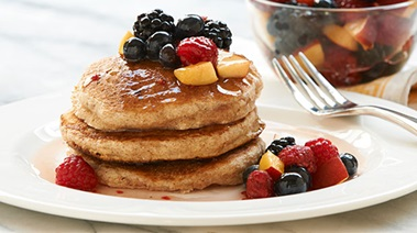 Whole Grain Pancakes with Summer Fruit