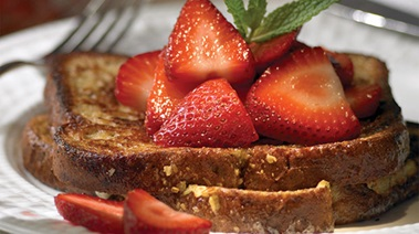 Whole Wheat French Toast with Maple-scented Strawberries